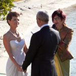 vivien reed marriage celebrant at beach side wedding