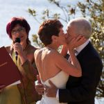 vivien reed celebrant announces wedding kiss