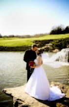 lakeside outdoor wedding ceremony