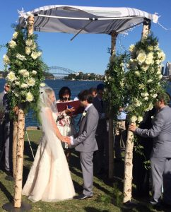 chupppah outdoor wedding Sydney