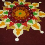 rice decoration entry to hindu wedding